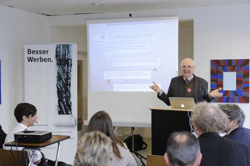 Gründer und Inhaber von dege.kommunikation Martin G. Dege beim Kundentag der Agentur 2012